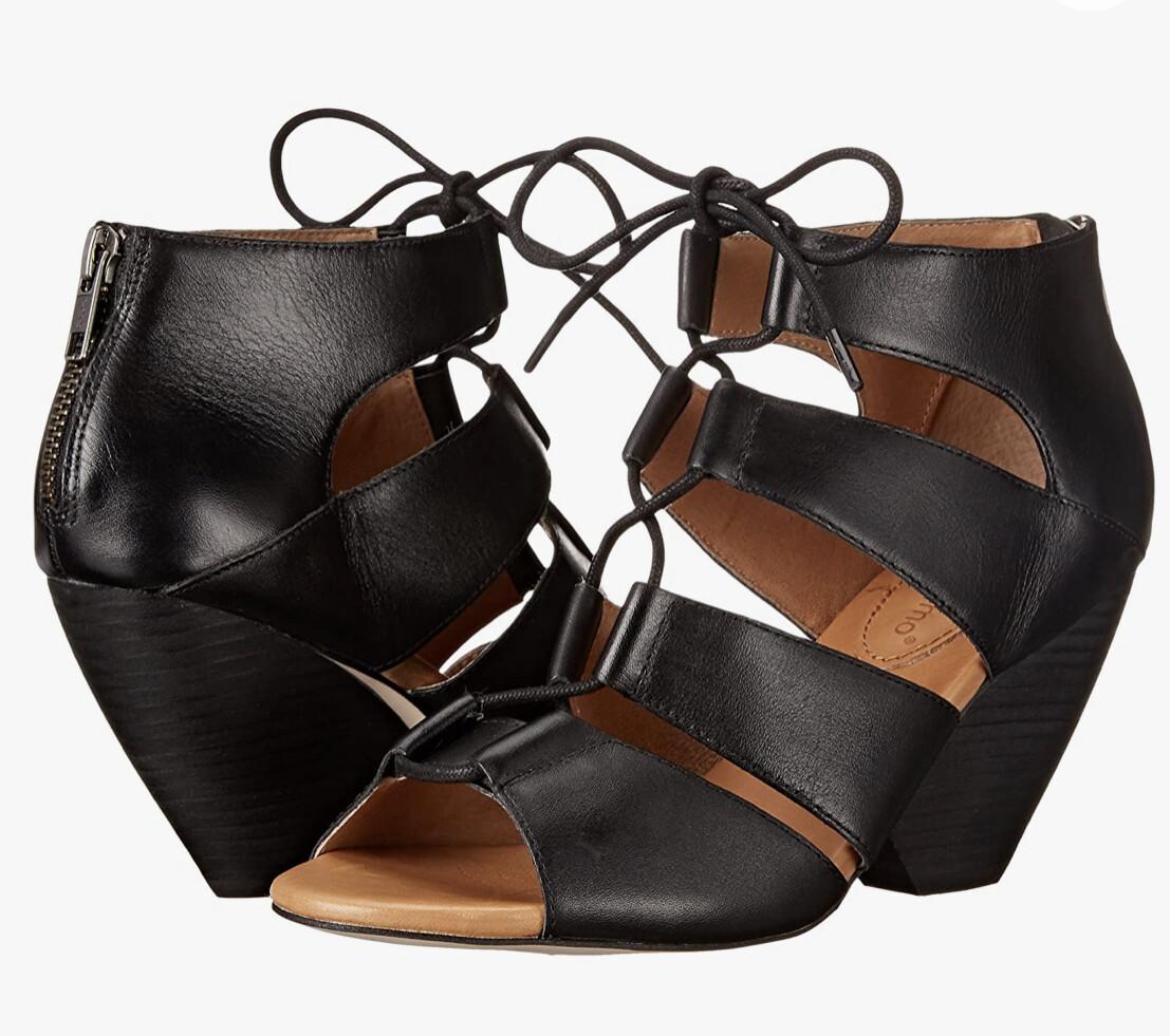 """CORSO COMO """"Camino"""" Demi Wedge Leather Sandals size 11"""