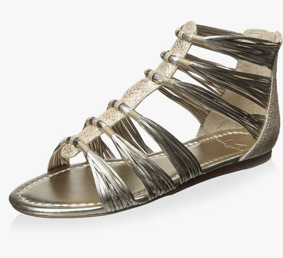 """New MARC FISHER """"Canella"""" Metallic Leather Sandals size 10"""