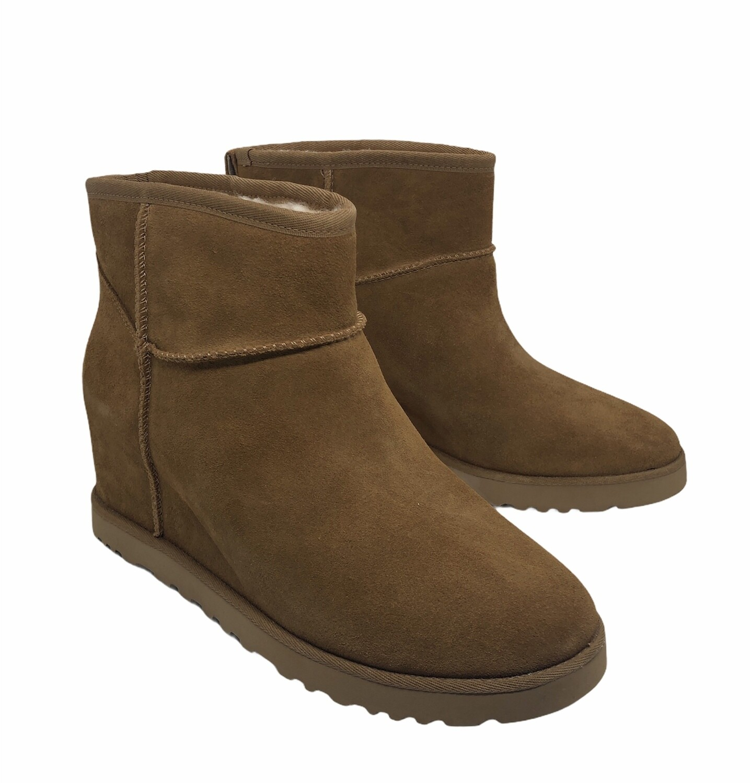 "New UGG ""Femme"" Chestnut Hidden Wedge Platform Boots size 11"
