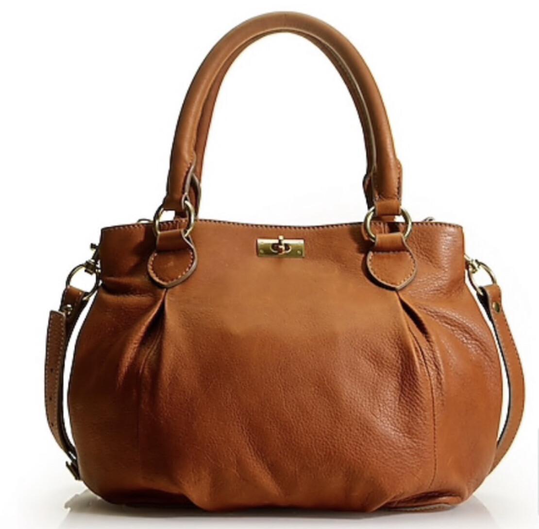 """J CREW """"Brompton """" Leather Hobo Satchel Handbag"""