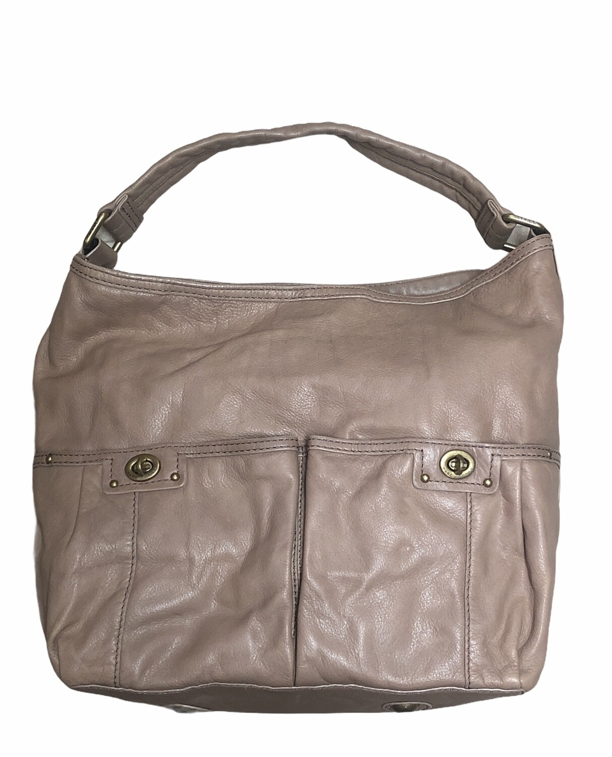 MARC by MARC JACOBS Totally Turnlock Leather Shoulder Bag