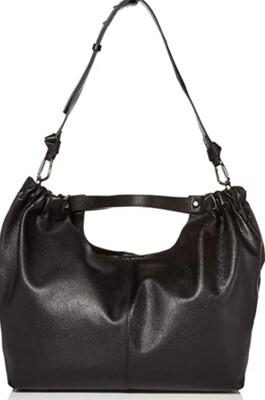 "VINCE CAMUTO Black Leather ""Nero Lysa"" Handbag $140"