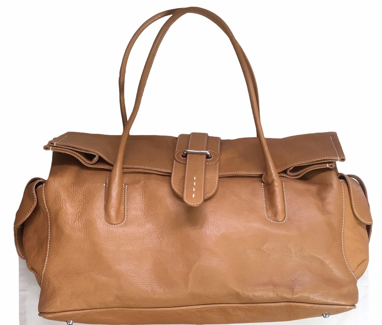 FURLA Tan Leather Satchel Handbag