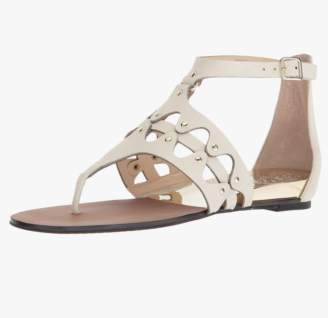 """VINCE CAMUTO """"Arlanian"""" Vanilla & Gold Sandals size 11"""