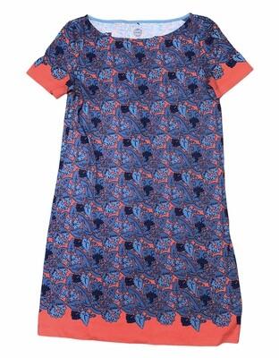 TORY BURCH Pima Cotton Printed T-Shirt Dress size XS