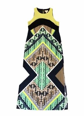 PRELUDE Geometric Print Maxi Dress size Large