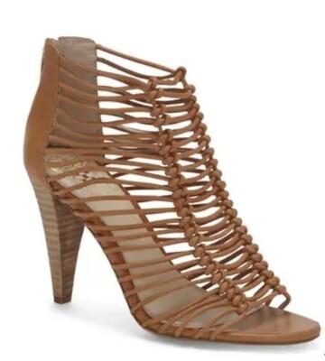 "VINCE CAMUTO ""Alsandra"" Tan Leather Sandal Heels size 7"