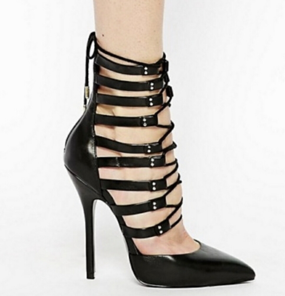 New Steve Madden STS Leather Lace-Up Stiletto Heels size 7