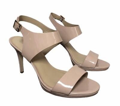MICHAEL KORS Claudia Lt. Blush Patent Strap Sandals 10 $135