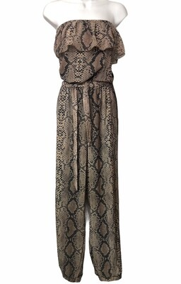 SWEET PEA for NY & Co. Python Print Strapless Jumpsuit XXL