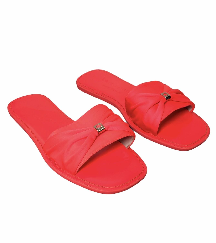 KATE SPADE Neon Watermelon Slide Sandals sz 9 $109