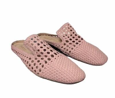 New BORN Blushing Pink Crochet Mules sz 11