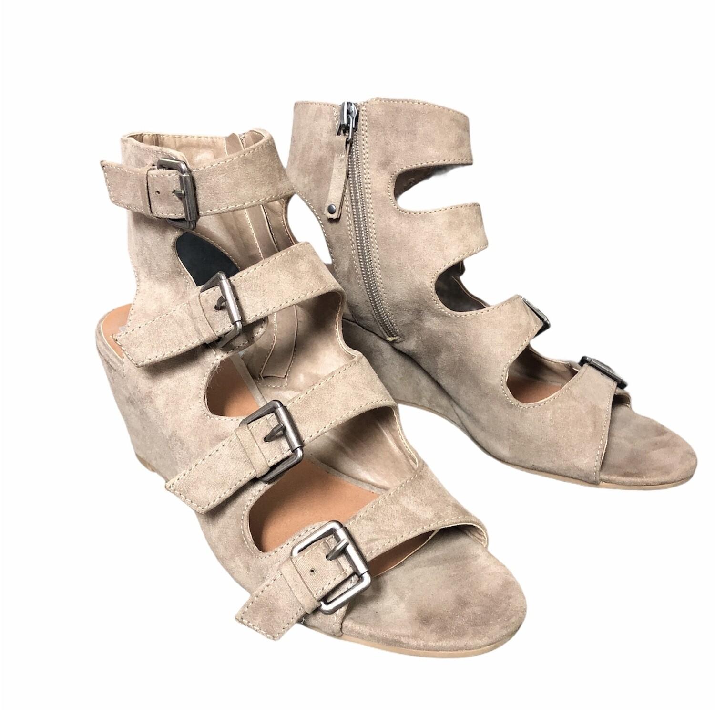 DOLCE VITA Suede Strap Wedge Sandals sz 8
