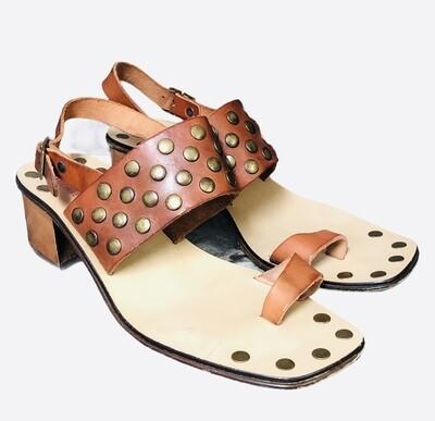 Vintage KORS (Michael Kors) Leather Rivet Toe Strap Sandals Italy sz 7 1/2