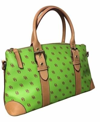 DOONEY & BOURKE Lively Lime Green Logo Satchel Bag