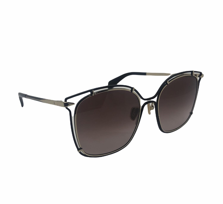 RAG & BONE Black & Gold Metal Frame Sunglasses