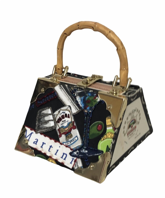 Decorative MARTINI Cigar Box Handbag