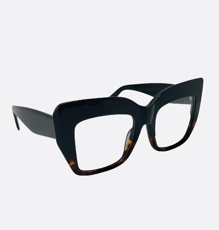 Black & Tortoise Statement Eyeglass Frames