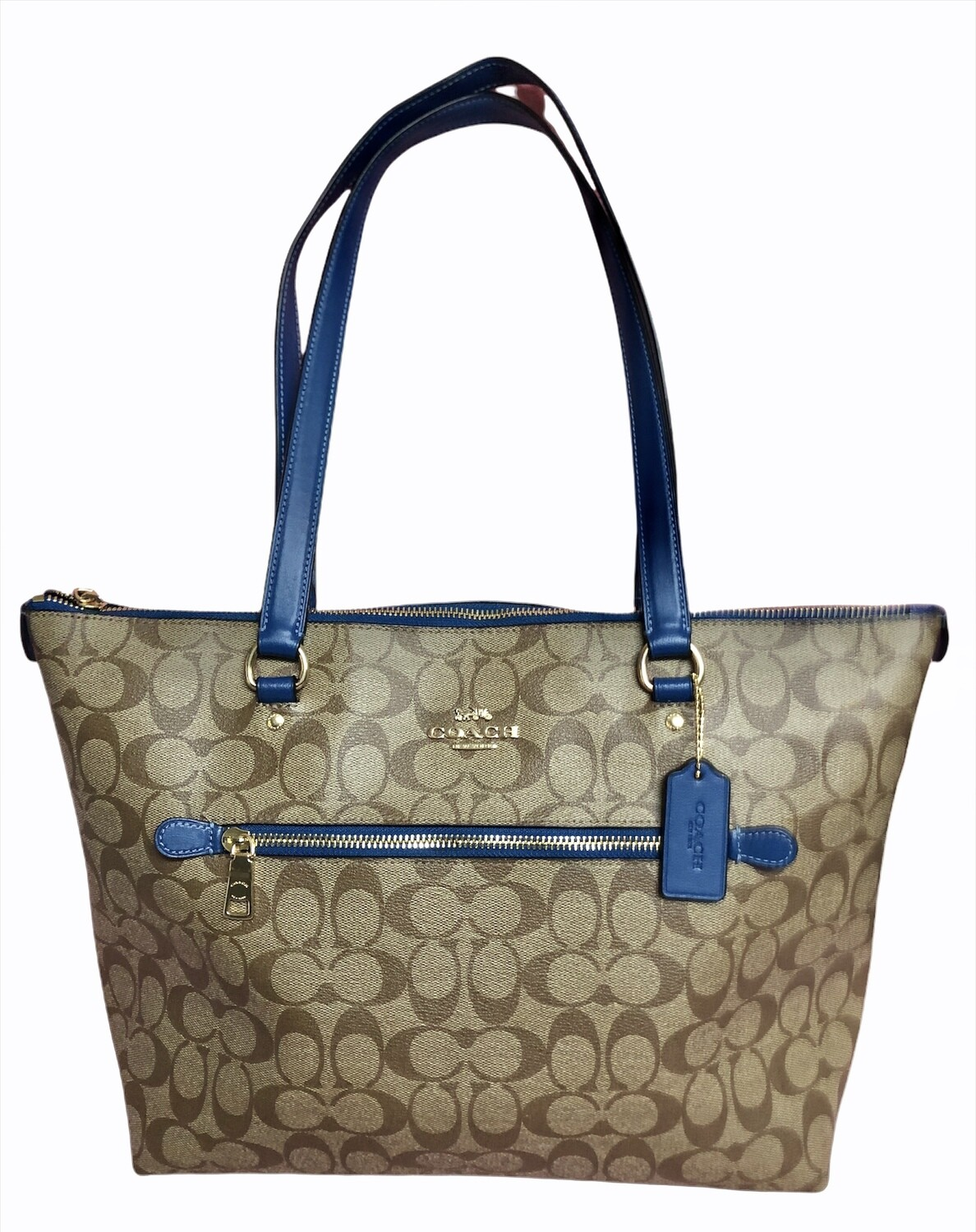 COACH Leather & Vinyl Canvas Signature Gallery Tote
