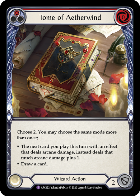 Tome of Aetherwind - Unlimited (Rainbow Foil)