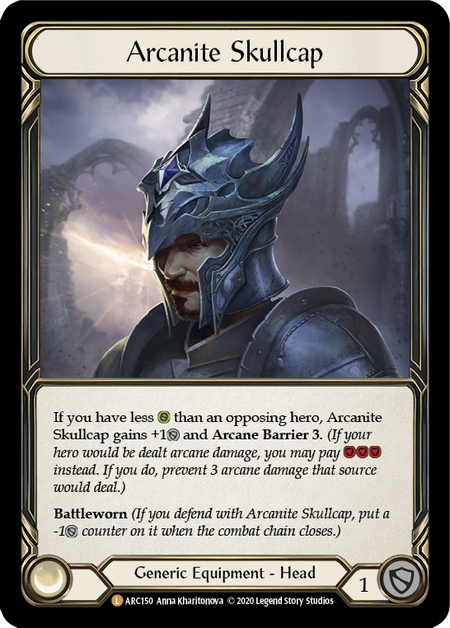 Arcanite Skullcap - Unlimited (Cold Foil)