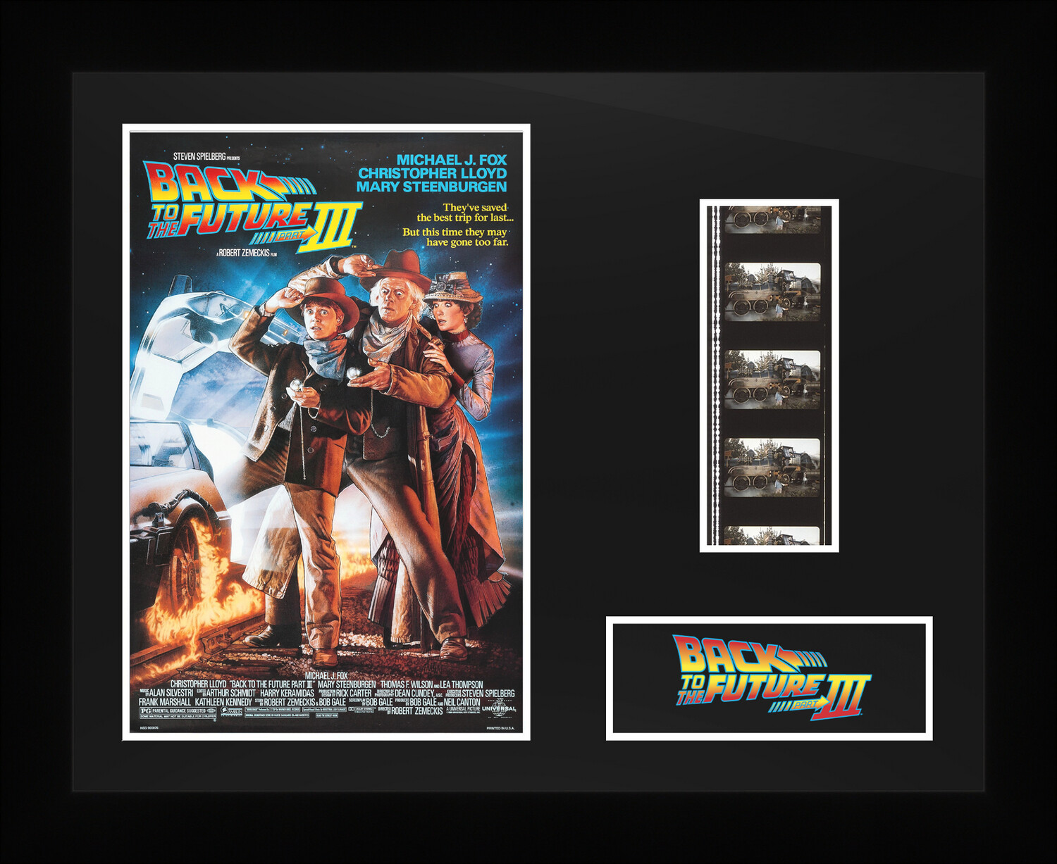 Back to the Future 3 - Framed Film Cells