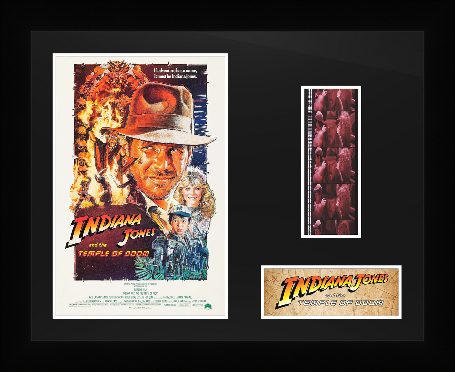 Indiana Jones : and the Temple of Doom - Framed Film Cells