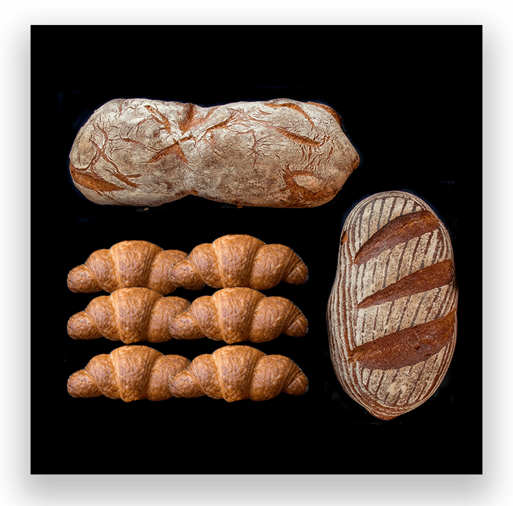 6 Croissants & 2 Breads
