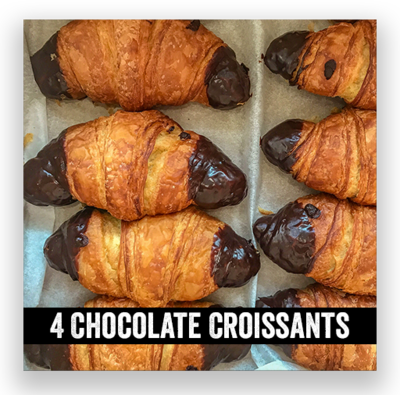 4 Chocolate Croissant