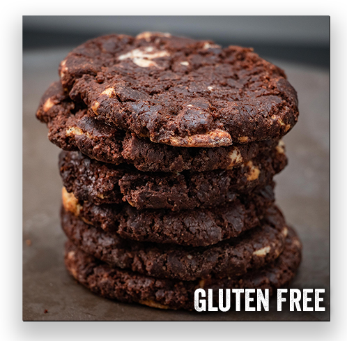 6 Gluten-Free Double Chocolate Chip Cookies