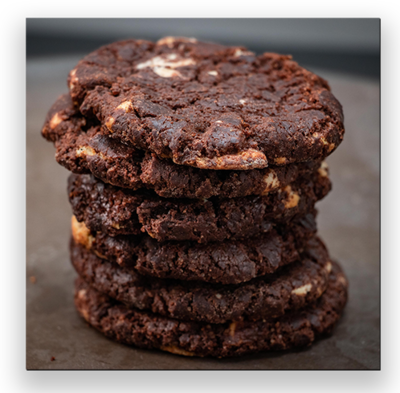 6 Double Chocolate Chip Cookies