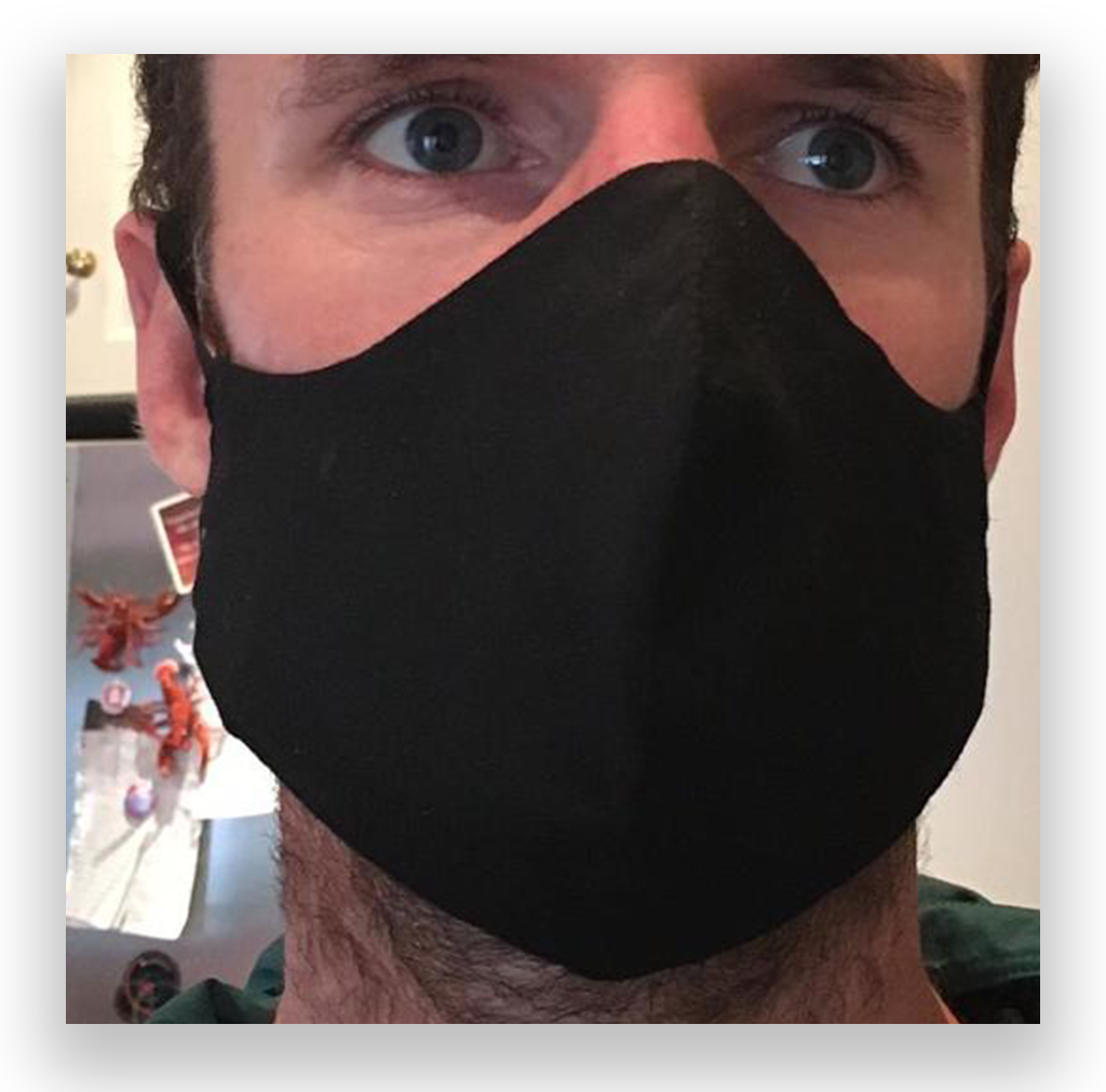Knead Barista Gabriel's Cloth Face Masks (Black)