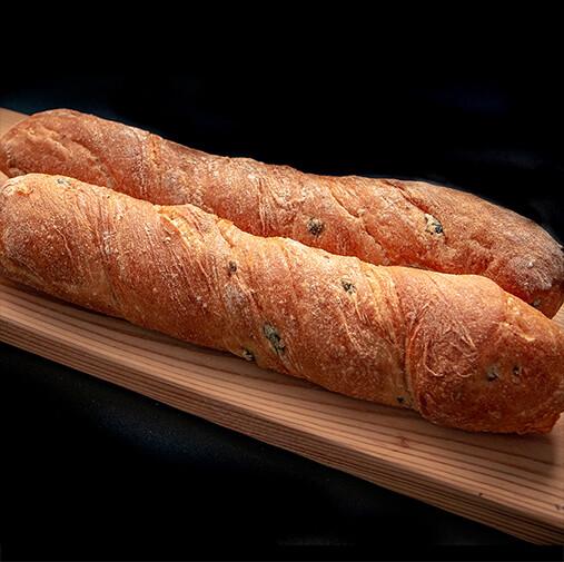 6 Olive and Rosemary Ciabatta Bread Sticks