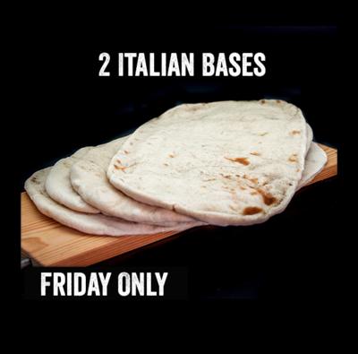 2 Italian Pizza Bases