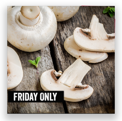 Sliced Mushroom Topping for 2