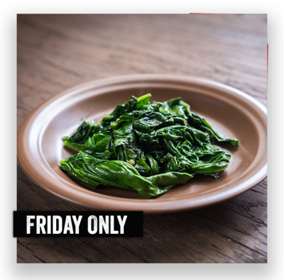 Blanched Spinach Topping for 2
