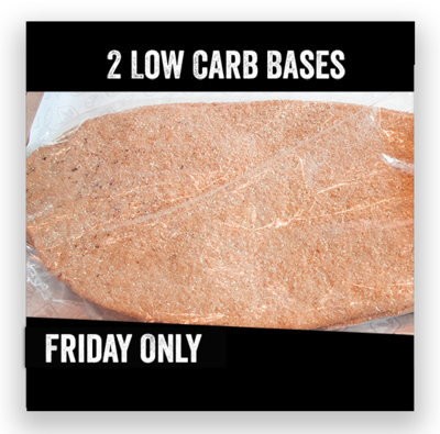 2 Low Carb Pizza Bases (Friday Only)