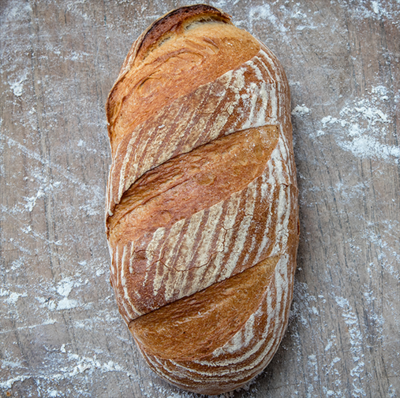 Crispy Sourdough Bloomer