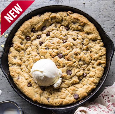Chocolate Chip Skillet Cookie (bake at home and eat hot)