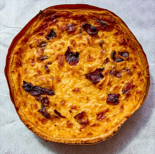 Bacon & Cheese Quiche (18cm Tray)