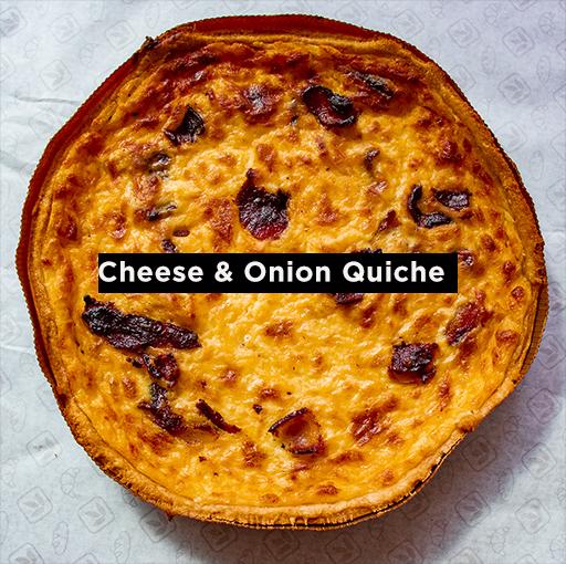Cheese & Onion Quiche (18cm Tray)