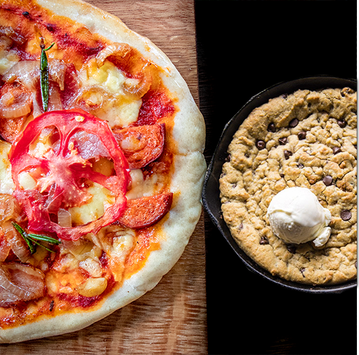 Pizza Kit + Skillet Cookie Combo for 4