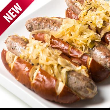 Bratwurst Pretzel Roll Kit For 2