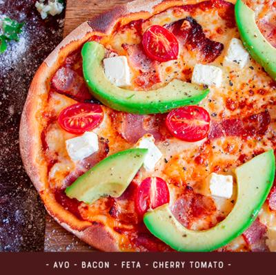 Pizza Kit for 2 - Bacon Feta Avo Tomato
