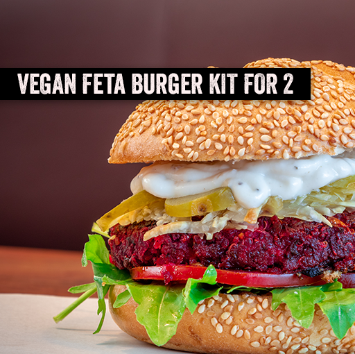 Burger Kit for 2 - Vegan Beetroot and Feta