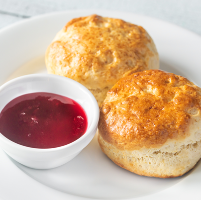4 Scones, Cheese and Jam