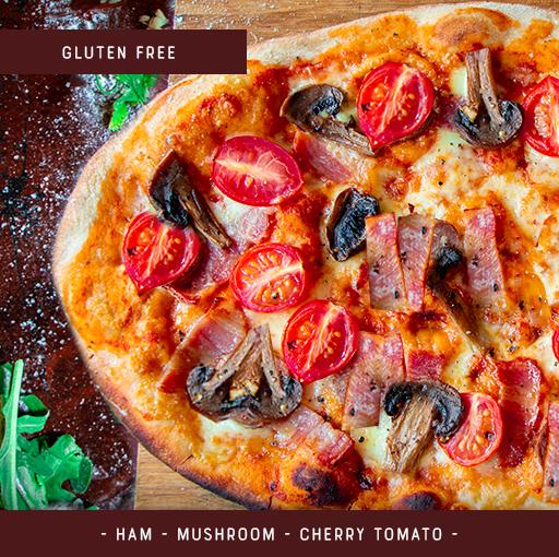 Gluten Free Pizza Kit for 2 - Salami Mushroom Tomato