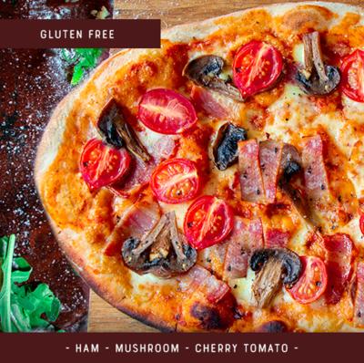 Gluten Free Pizza Kit for 2 - Ham Mushroom Tomato