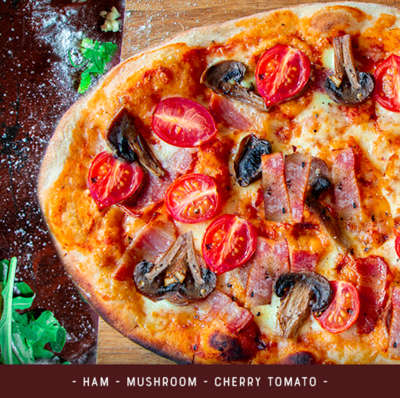 Pizza Kit for 2 - Ham Mushroom Tomato