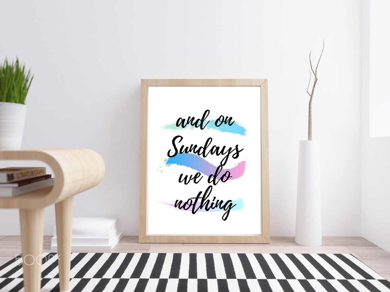 on Sundays